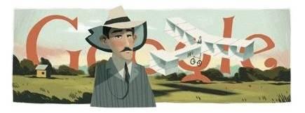 Doodle do Santos Dumont