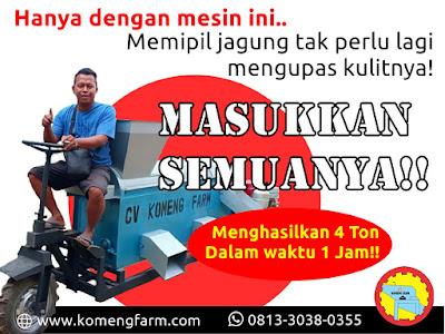 Mesin Pemipil Jagung Tanpa Kupas Klobot (High Performance)