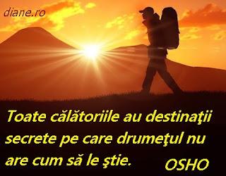 Osho Toate călătoriile au destinaţii secrete pe care drumeţul nu are cum să le ştie