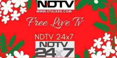 NDTV 24x7 News update online on the website through free live tv