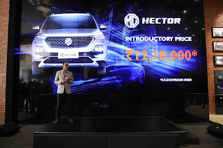 MG HECTOR launched at INR12.18 Lakhs