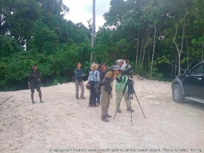 Asian birders in tropical islands of Raja Ampat