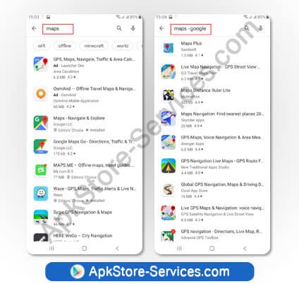 إخفاء نتائج محددة من البحث على متجر Google Play Store