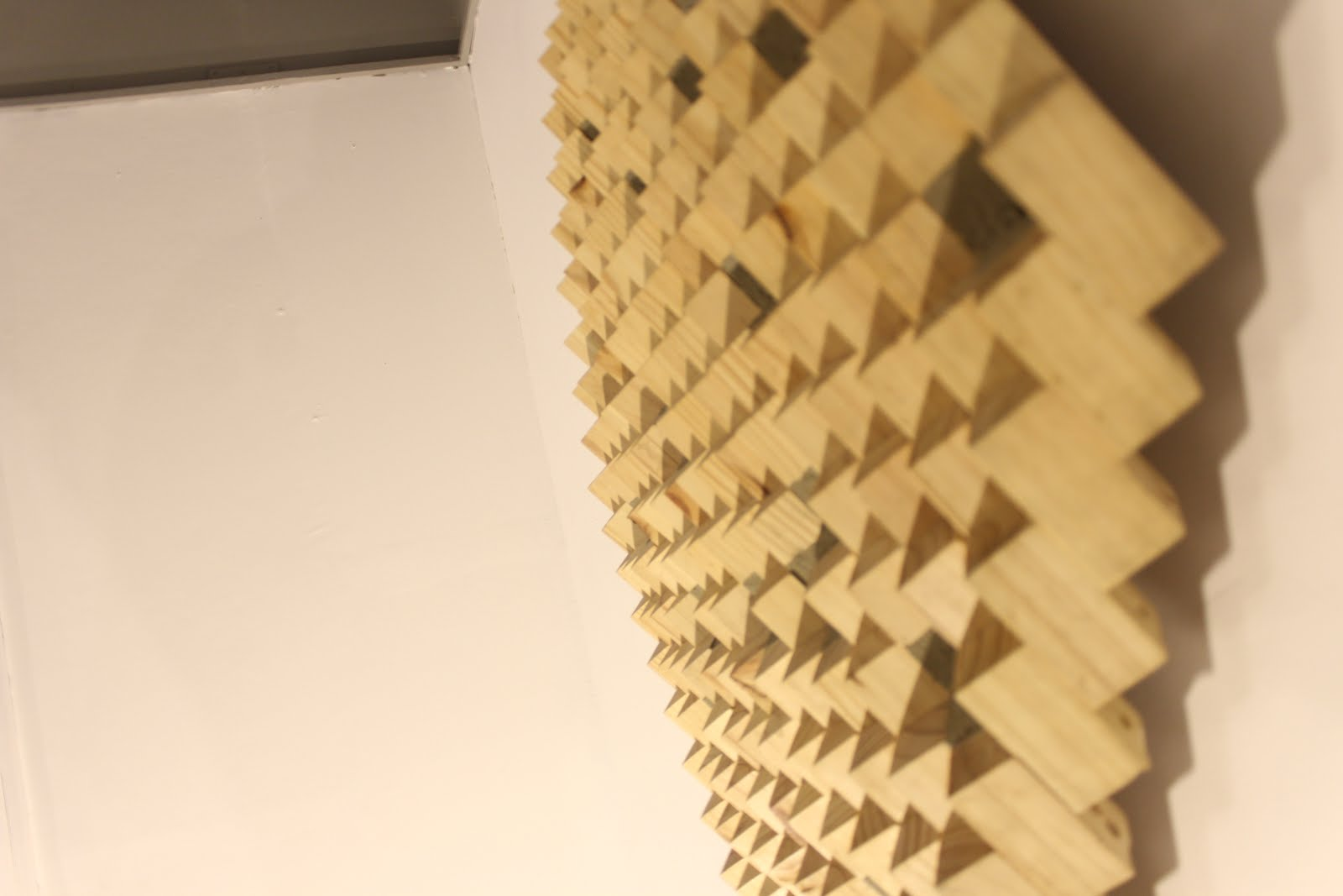 Jagged little pieces The visual poetry of Bryan Liao's Aggregate Abundances  Art, Bryan Liao, Aggregate Abundances, Wood, Sculpture, Cinematheque, Creative, Creativity, Culture, Visual Poetry, Woodcraft, Honeycomb, Pattern, Tesselate