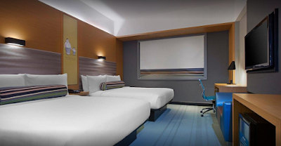 Kamar twinbed di Aloft Hotel Kuala Lumpur