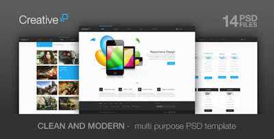 Download Creative - Themeforest Multi Purpose PSD Theme