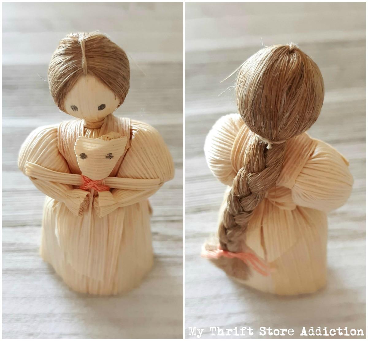 rustic corn husk dolls