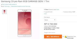 Harga Samsung Galaxy C9 Pro Garansi SEIN