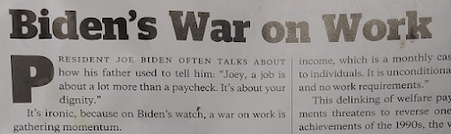 Biden Forgets His Father's Message, Wages War on Work  (image)