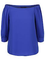 Bluză Dorothy Perkins albastră cu umerii goi