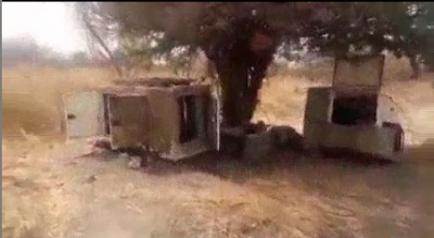 """Nigerians Soldiers Tags Sambisa Forest As """"Local Dubai"""" As They Discover Weapons"""