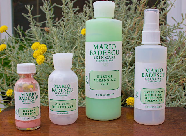Mario Badescu Oily Skin Acne Products Drying Lotion Oil Free Moisturiser Rosewater Facial Spray aloe Enzyme Cleansing Gel