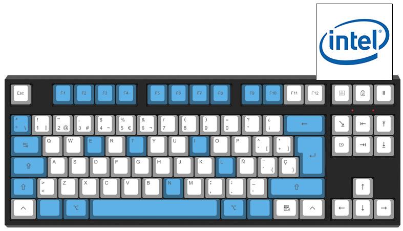 Intel inside - Diseño teclado mecánico - dPunisher