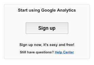 Google Analytics Sign up Button