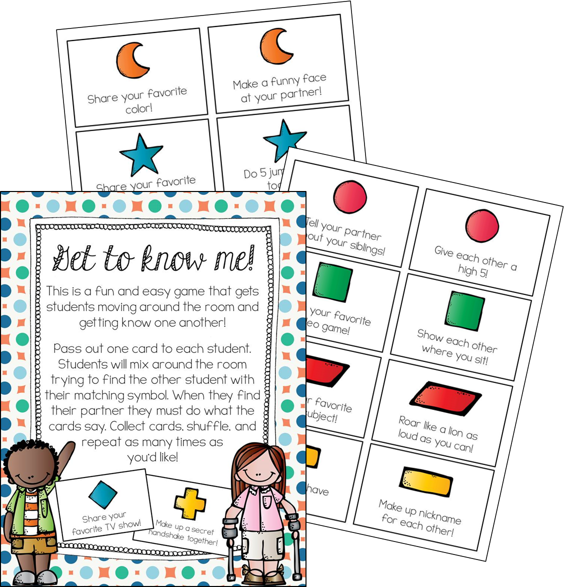 All About Me A Back To School Unit