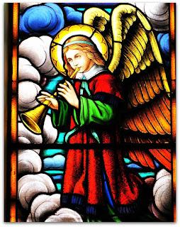 Anjo tocando corneta, Igreja São João Batista, São João do Polêsine (RS)