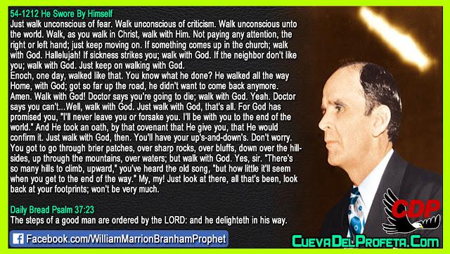 If sickness strikes you; walk with God - William Branham