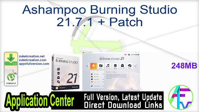 Ashampoo Burning Studio 21.7.1 + Patch