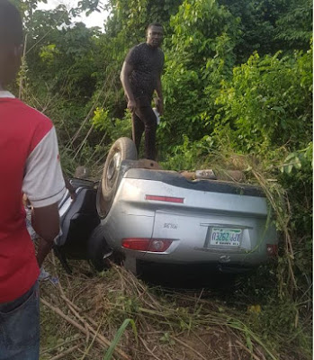 Man Survives Ghastly Accident, Climbs On His Damaged SUV