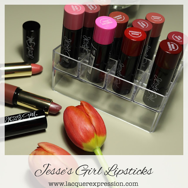Swatch and Review of Jesse's Girl Cosmetics Lipsticks