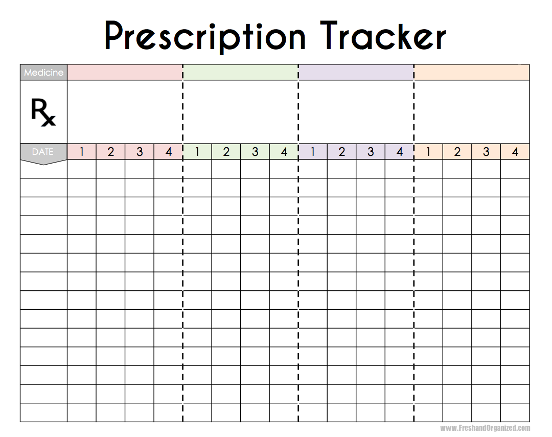 Fresh and organized for Patient tracking template