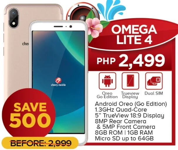 Cherry Mobile Omega Lite 4 Now Only Php2,499