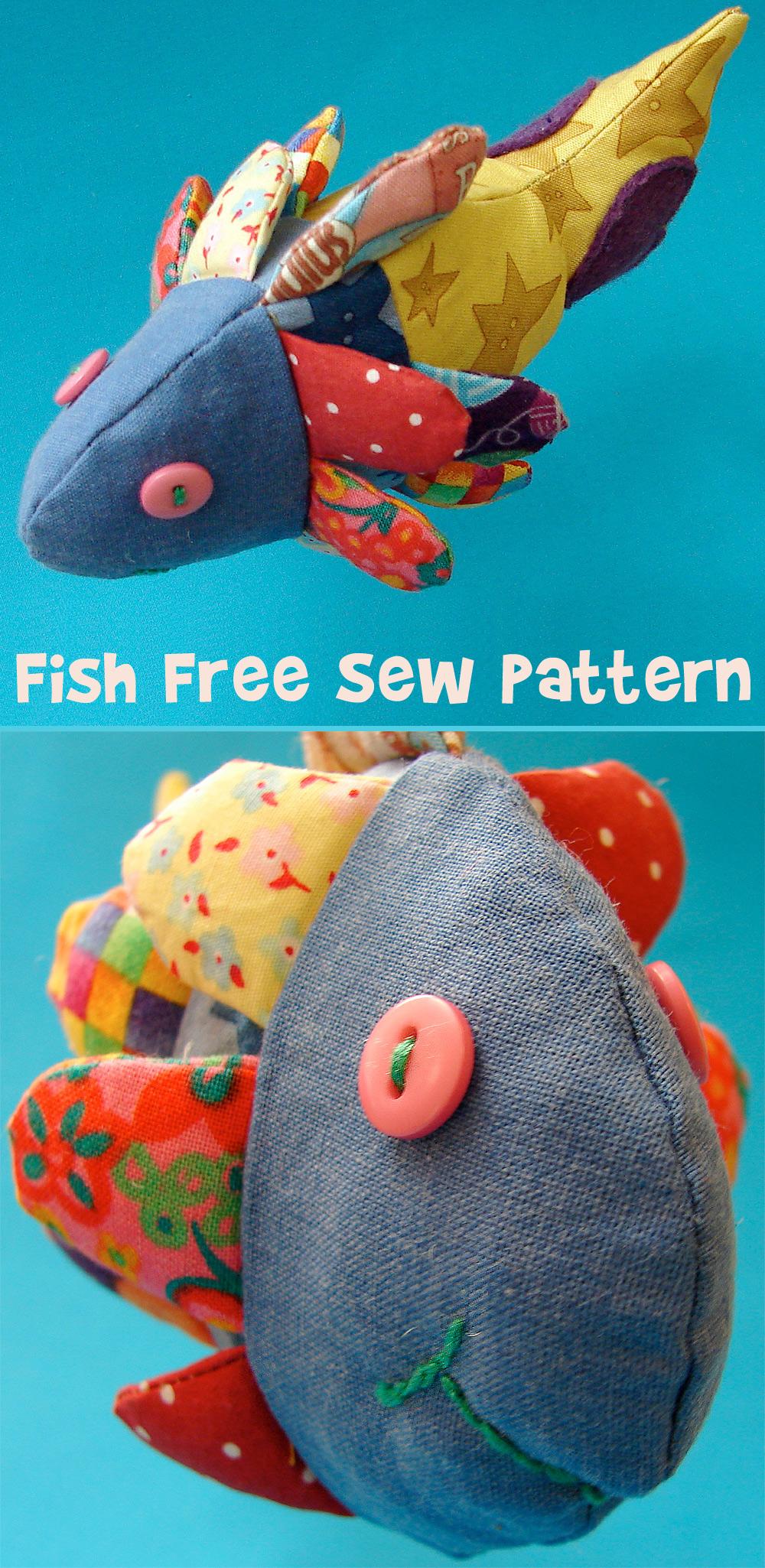 Fabric Toy Fish Free Sewing Pattern