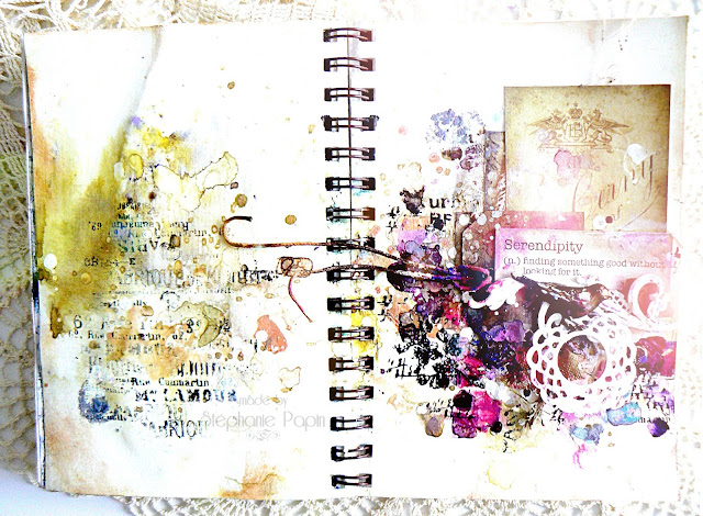 Garden Gala kit Art Journal pages by Stéphanie Papin