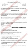 AIOU Old/Past Papers Compulsory English-I code no 1423 Spring 2017