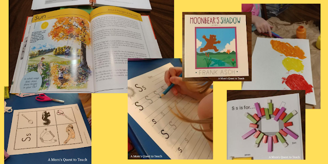 books and activities relating to Sun lesson from God's Creation from A to Z