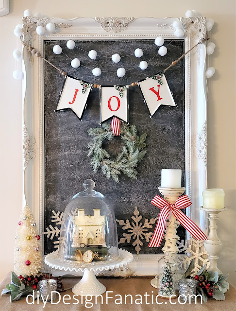 Christmas,  cloche, Christmas foyer vignette, Christmas decor,  Christmas decorating, Vintage Home Studio, farmhouse finds