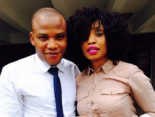 Nnamdi Kanu and wife