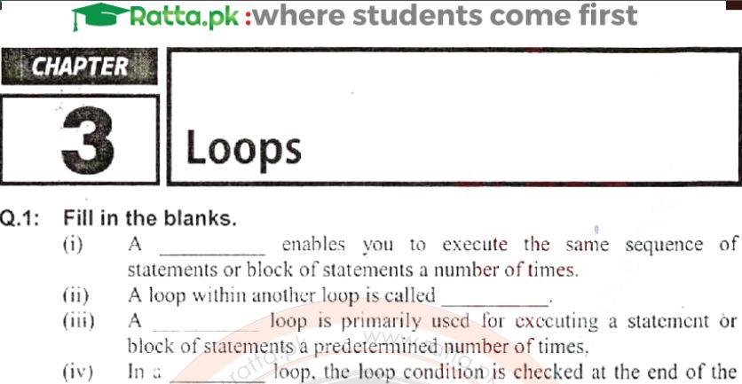 2nd year Computer Chapter 3 Notes pdf - ICS Part 2 - Ratta pk