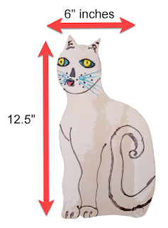 Cat themed wall decor size specifications