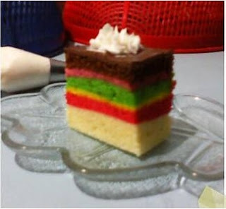 Resep Rainbow Cake Kukus - Bumbu Emak