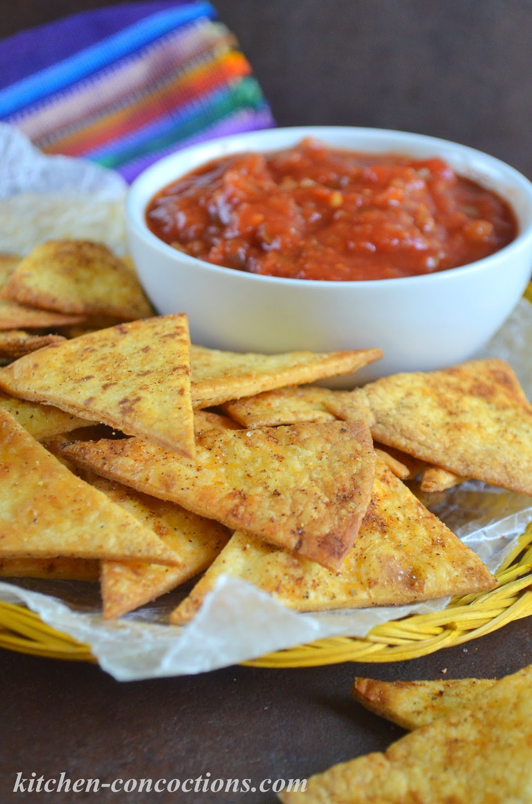 Oven Baked Tortilla Chips Kitchen Concoctions