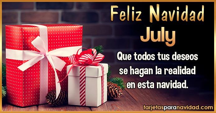 Feliz Navidad July
