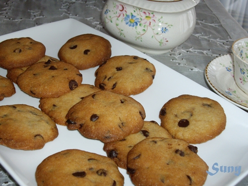 Galletas con gotas de chocolate