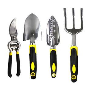 Premium 4-Piece Long-Handled Gardening Tool Set