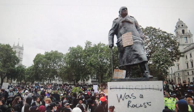 BLM UK, George Lloyd protests, Winston Churchill racist