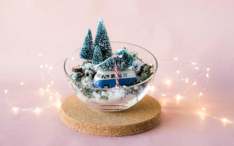 Una pizca de hogar 8 diy navide os que puede hacer cualquiera - Centros de mesa navidenos faciles ...