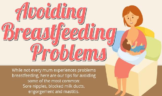 Avoiding Breastfeeding Problems #infographic