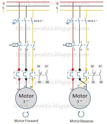 Motor Listrik 3 Fasa Forward Reverse Listrik Praktis