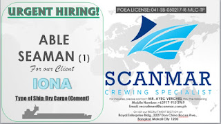 seaman job, maritime jobs, marine jobs updated for cargo ships join november - december 2018