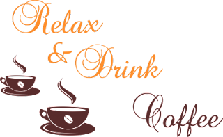 Sticker perete decorativ Relax Coffee comanda aici