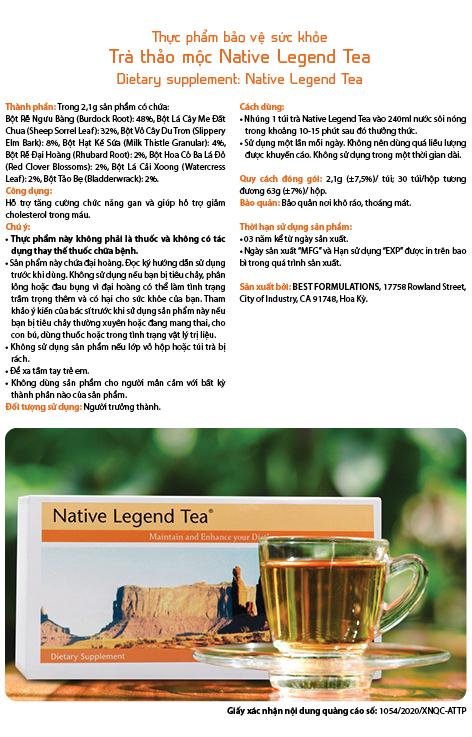 Tra thao moc native legend tea - thai doc huyet tuong thuong hieu Unicity