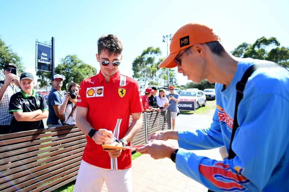Leclerc parecia discretamente confiante antes do início do ano