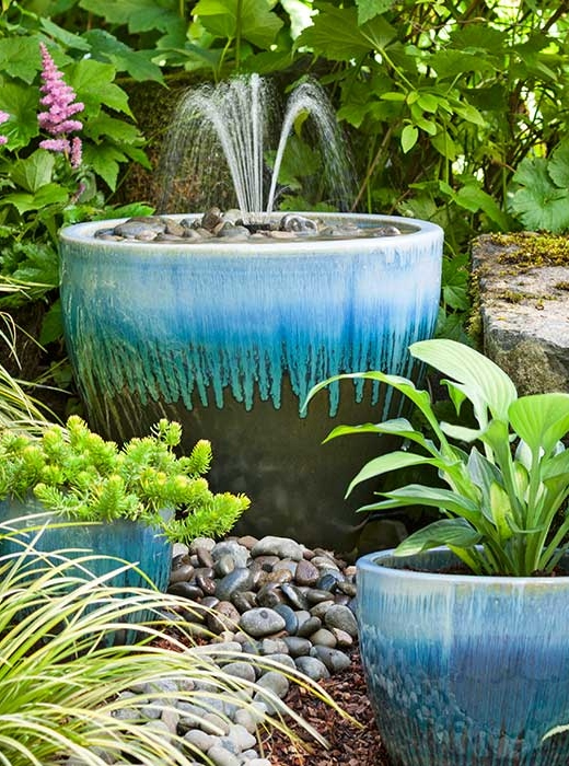 DIY Homemade Water Fountain Garden Decor Planter