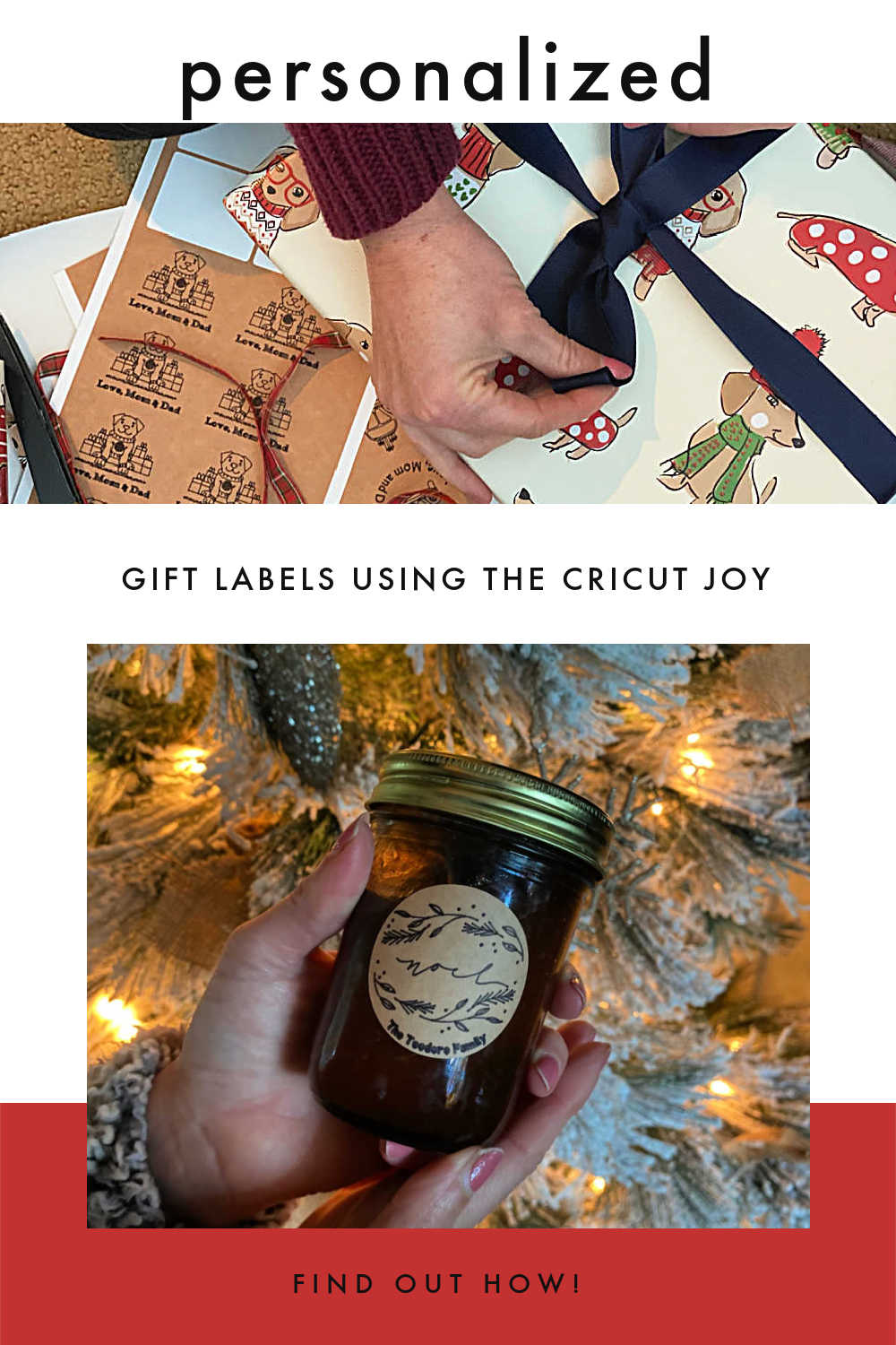 PERSONALIZED GIFT LABELS USING CRICUT JOY