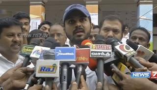 Actor Karthi speaks after casting his vote for election 2016   News7 Tamil